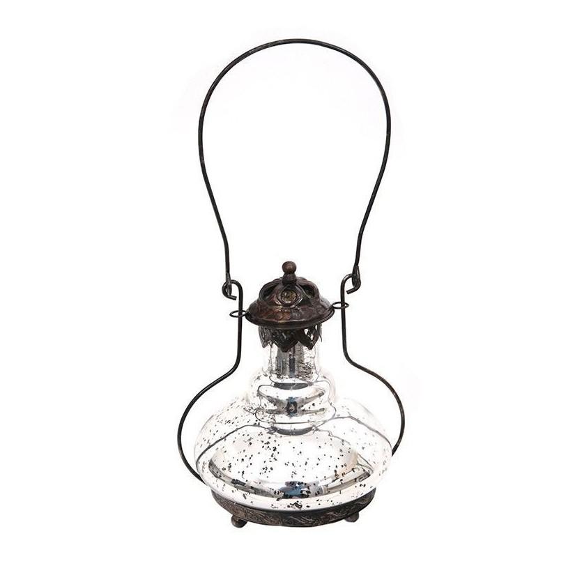 Farol anticuario vidrio metalizado