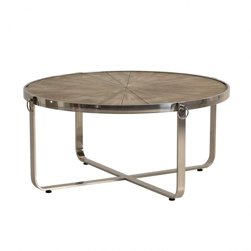 Mesa de centro madera decapada