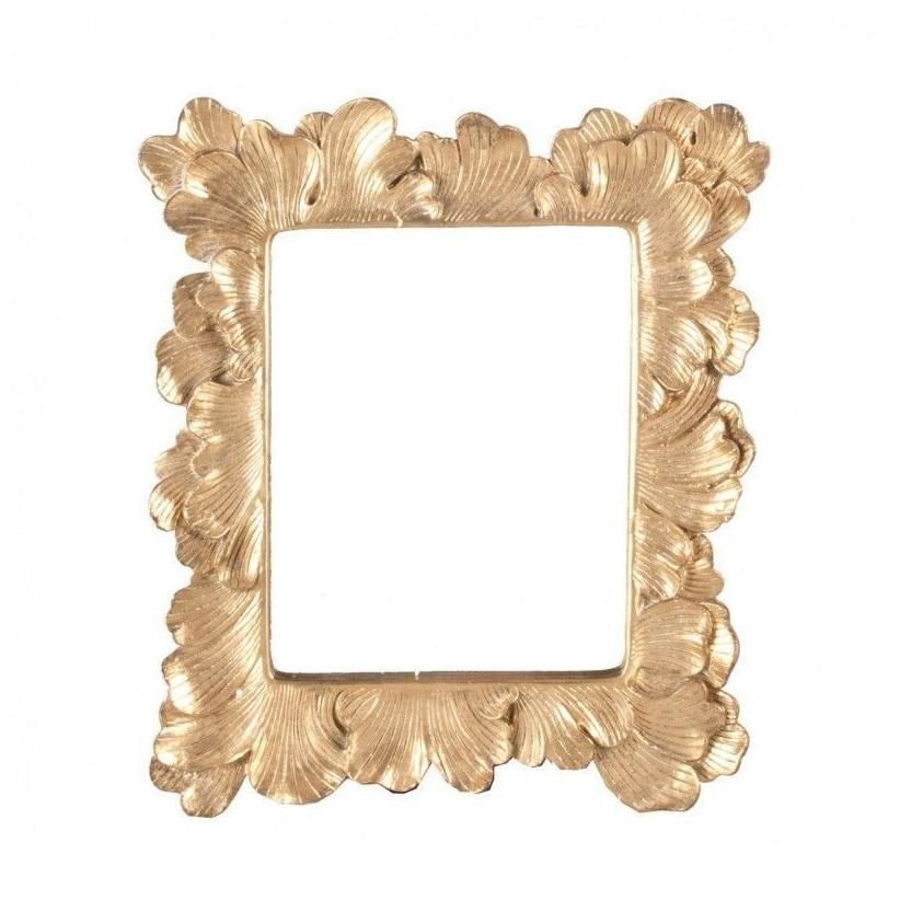 Espejo dorado de resina