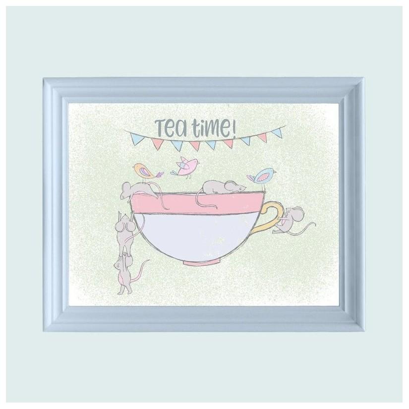 Cuadro azul tea time