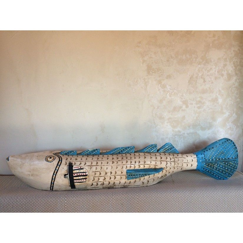 pez bozo grande blanco-azul. Lateral
