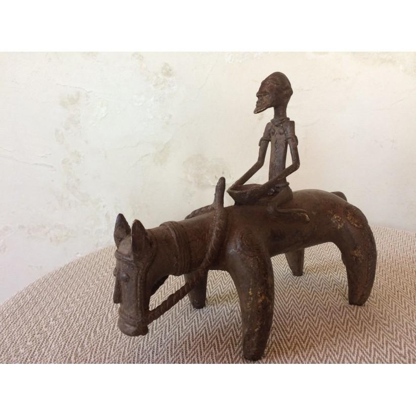 Figura bronce dogon jinete
