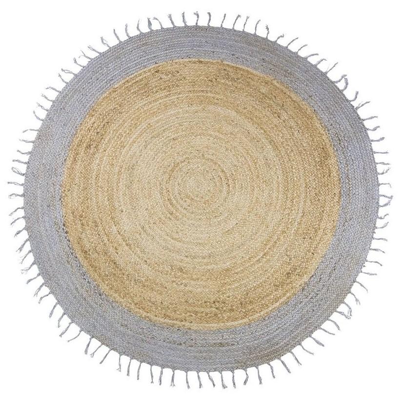Alfombra yute natural-gris