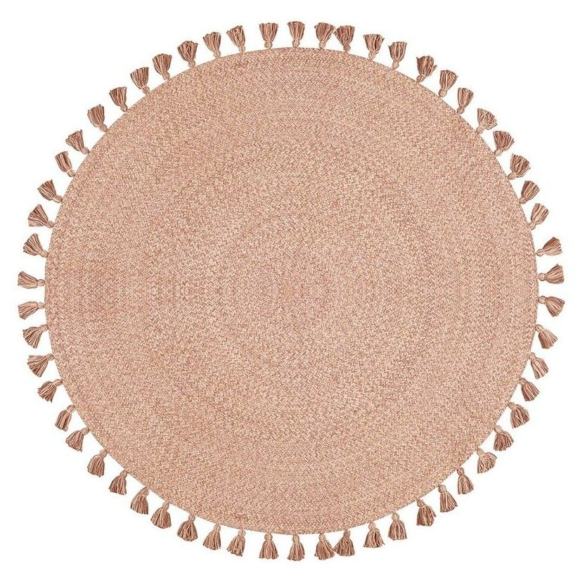 Alfombra algodón rosa-oro