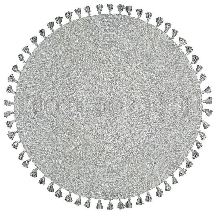 Alfombra algodón gris-plata