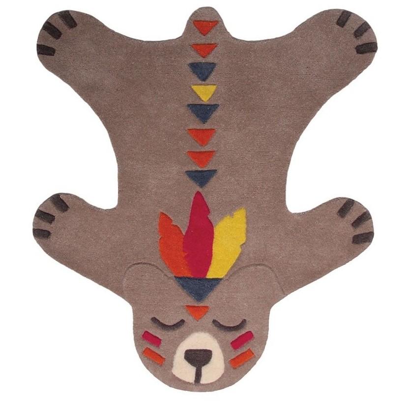 Alfombra lana nómada oso