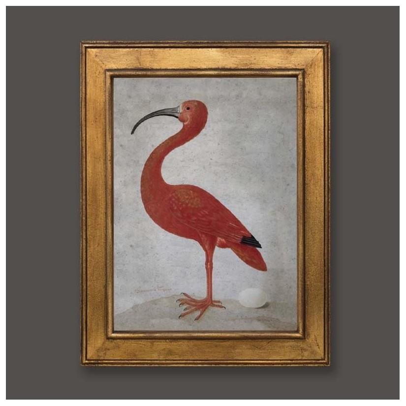Cuadro oro pájaro Ibis izquierda