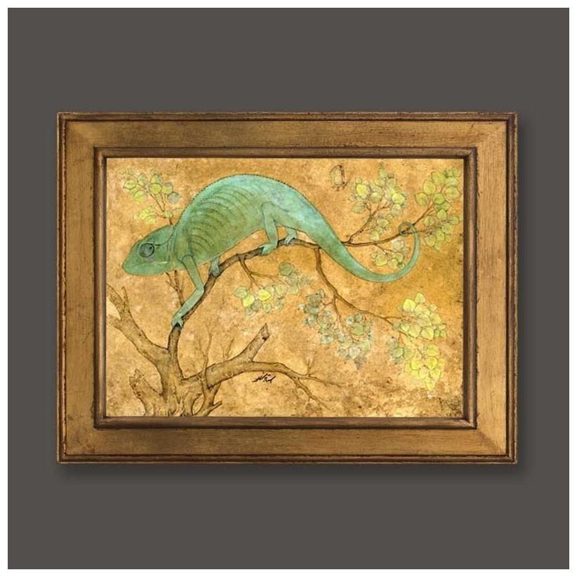 Cuadro oro camaleón