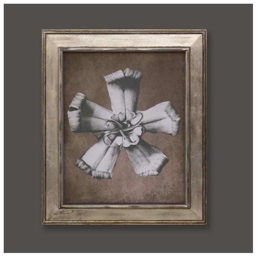 cuadro plata flor