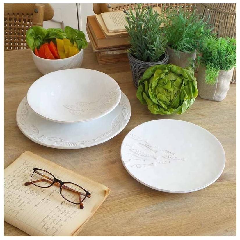 platos ceramica peces