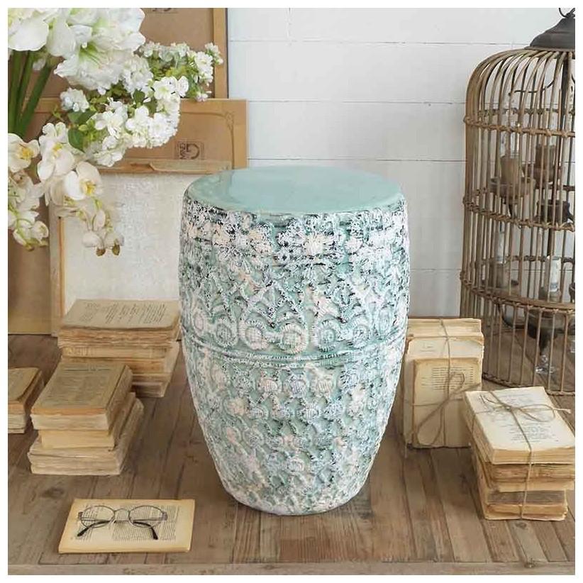 taburete ceramica antique