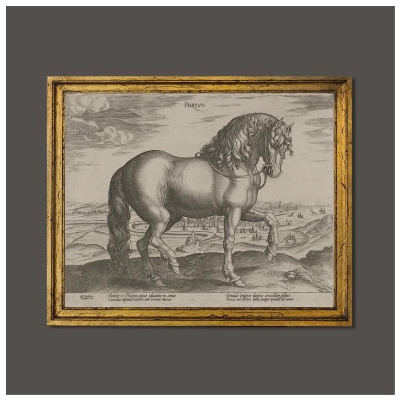 Cuadro de caballo frison