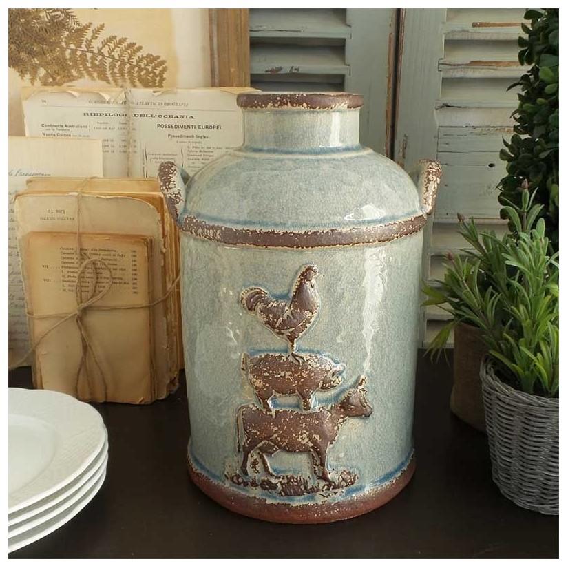 Jarrón cerámica granja