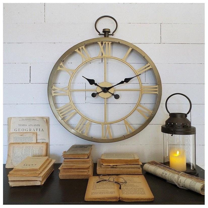 Reloj hierro números romanos