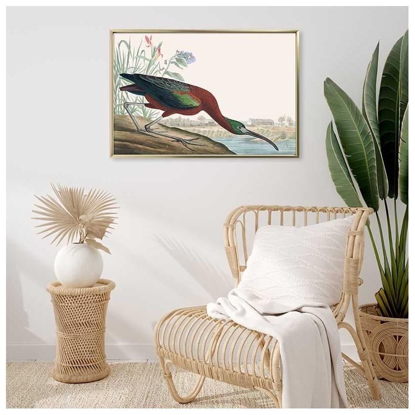 Cuadro oro lamina ibis